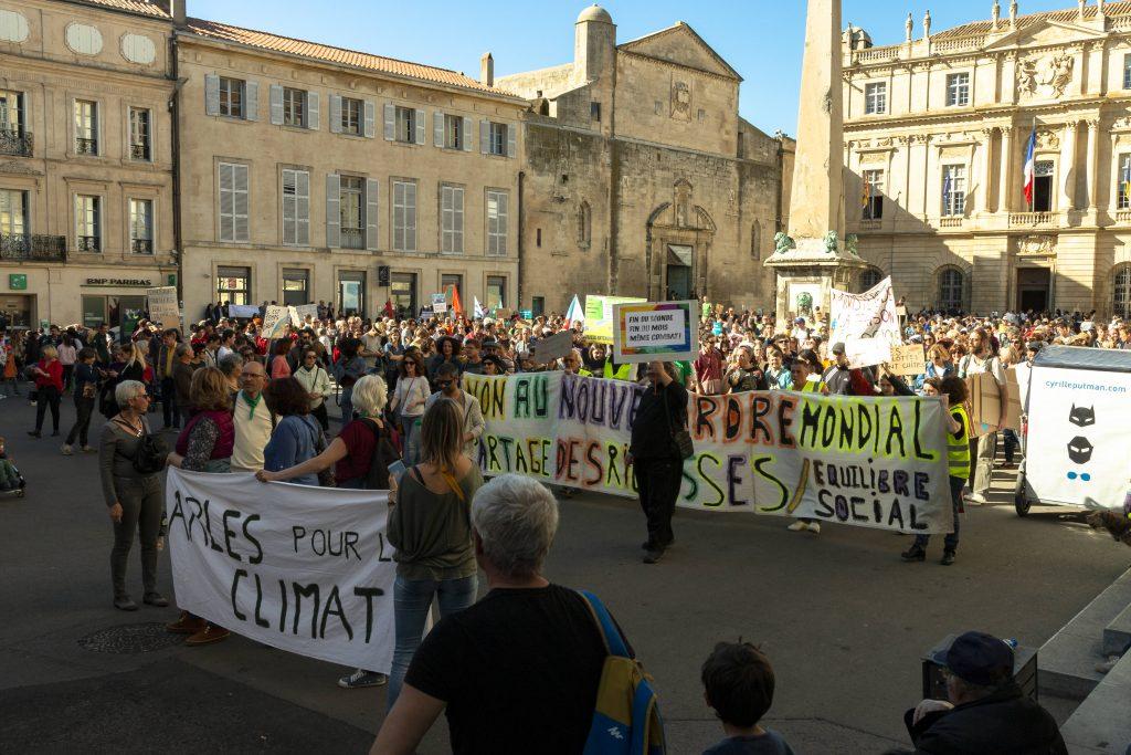Début de manif' climat